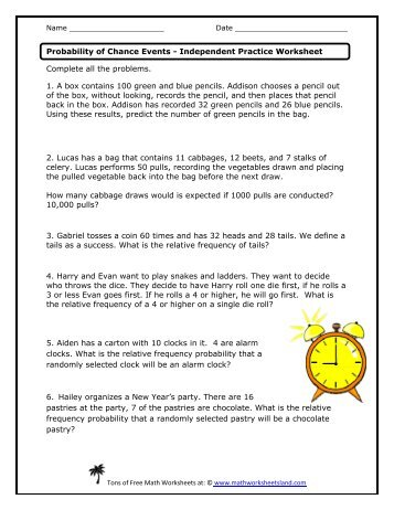 Conditional probability worksheet with answer key