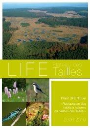 Restauration des habitats naturels au plateau des Tailles