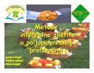 Metode integralne zaštite u poljoprivrednoj proizvodnji - savetodavstvo