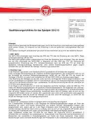 Qualifizierungsrichtlinie für das Spieljahr 2012/13