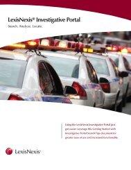 Investigative Portal Searches - LexisNexis