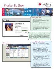 Accurint® for Law Enforcement Tip Sheet - LexisNexis