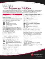 LexisNexis® Law Enforcement Solutions