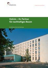 Nachhaltiges Bauen - Holcim
