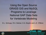 Using the Open Source GRASS GIS and MySQL Programs to ...