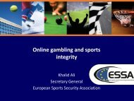 Online gambling and sports integrity - World Squash Federation