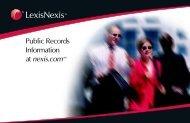 Public Records Information at nexis.com® PDF - LexisNexis