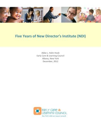 Five Years of New Director's Institute - Early Care & Learning Council