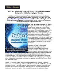 Google's Top-ranked Cyber Security Conference to Bring Key Insights for CISOs Facing Cyber Threats