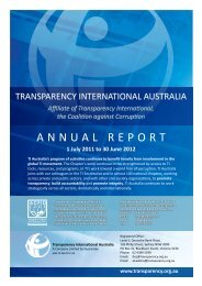 A N N U A L R E P O R T - Transparency International Australia