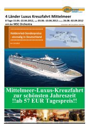 4 Länder Luxus Kreuzfahrt Mittelmeer 8 Tage ... - Holdenried Reisen