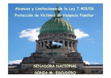 Alcances y Limitaciones de la Ley 7.403/06 Protección de Víctimas ...