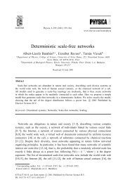 Deterministic scale-free networks - Center for Complex Network ...
