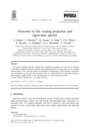 Networks in life: scaling properties and eigenvalue spectra