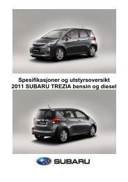 Klikk her for å laste ned spesifikasjoner og ... - Subaru Norge
