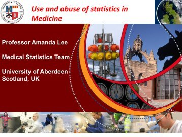 Seminar on Use and Abuse of Statistics in Medicine - College of ...