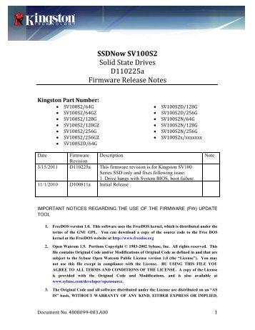 Kingston SH100S3 Toolbox Drivers PC