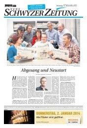 Die letzte Ausgabe der Neuen Schwyzer Zeitung in voller Länge
