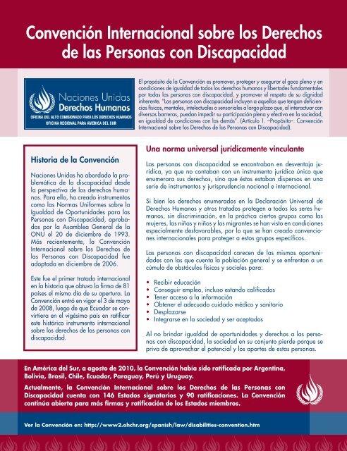 Convención Internacional sobre los Derechos de las ... - Acnudh