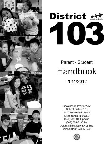 District Handbook - Lincolnshire-Prairie View School District 103