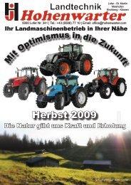 Herbst 2009 - Landtechnik Hohenwarter