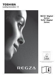 WL76* Digital Series YL76* Digital Series - Toshiba