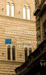 SUPPORTING FLORENCE SUPPORTING PALAZZO STROZZI