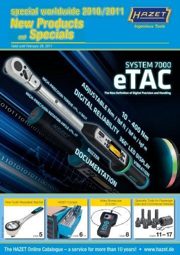 New Products and Specials - HAZET-Werk