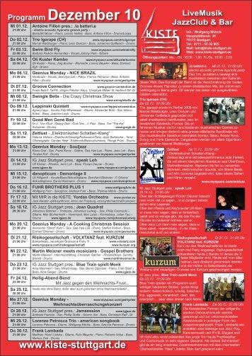 Programm Dezember 10 - Kiste