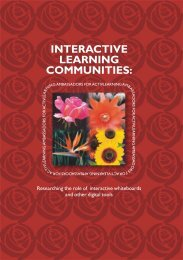 INTERACTIVE LEARNING COMMUNITIES: - MirandaNet
