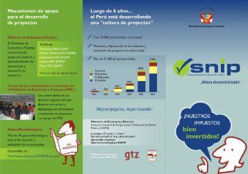 Tríptico del Sistema Nacional de Inversión Pública (SNIP) - PDRS