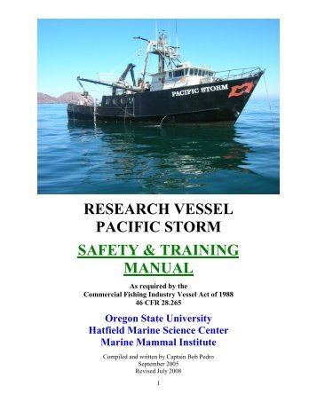Pipelay barge Safety Manual