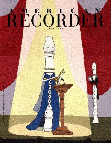 M A Y 2 0 0 2 - American Recorder Society