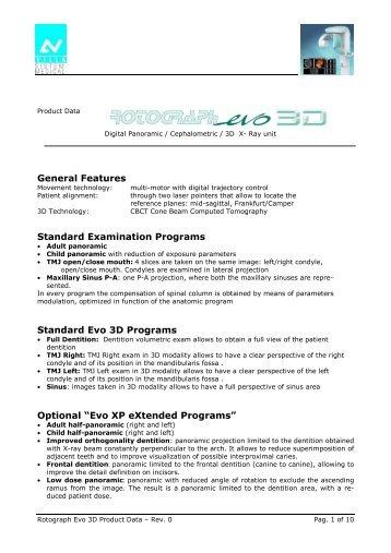 villa rotograph 3d spec.pdf - PROFI - dental equipment