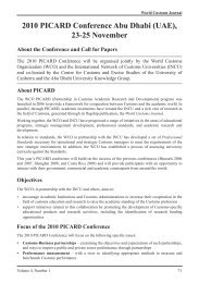 2010 PICARD Conference Abu Dhabi (UAE) - World Customs Journal