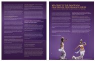 WELCOME TO THE DANCE/USA CONFERENCE ... - World Arts West