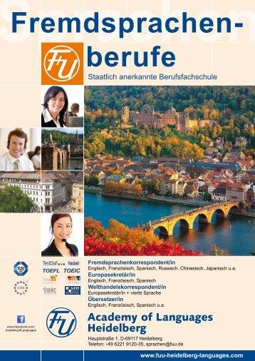 Fremdsprachenberufe - F+U Academy of Languages Heidelberg