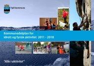 Kommunedelplan for idrett og fysisk aktivitet 2011 ... - Fjell kommune