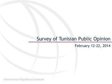 2014 April 23 Survey of Tunisian Public Opinion, February 12-22, 2014