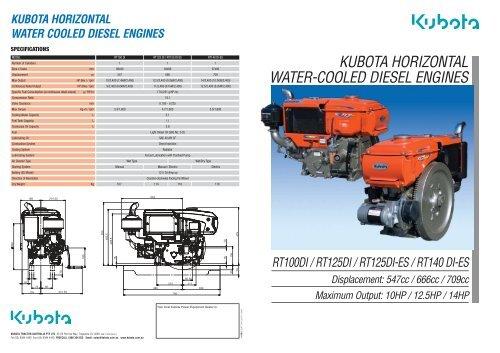 kubota horizontal water-cooled diesel engines - Diesel Parts