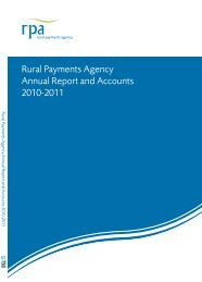 RPA Annual Report and Accounts 2010-2011 - The Rural Payments ...