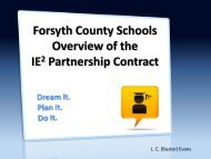 Forsyth County Schools - IE2 Presentation - Ciclt.net
