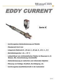 Wirbelstrom - Serie IC - WayCon Positionsmesstechnik GmbH