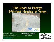 The Road to More Efficient Housing in Yukon (.pdf)
