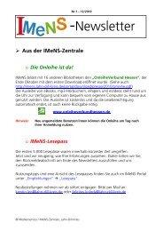 Newsletter Nr. 01 12/2010 - IMeNS - Lahn-Dill-Kreis