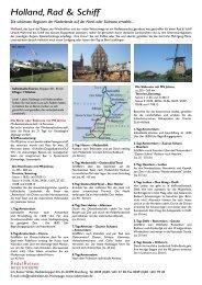 Holland, Rad & Schiff - RadelReisen WILKE TOURISTIK