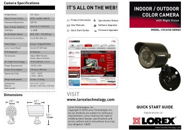 it's all on the web! indoor / outdoor color camera - Home Depot