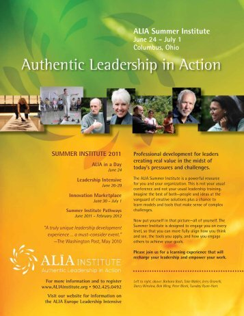 ALIA Summer Institute June 24 - July 1 Columbus, Ohio - ALIA Institute