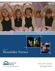 Arts and Culture Strategic Plan - City of Mountlake Terrace