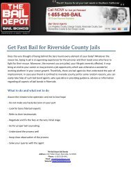 Get Fast Bail for Riverside County Jails